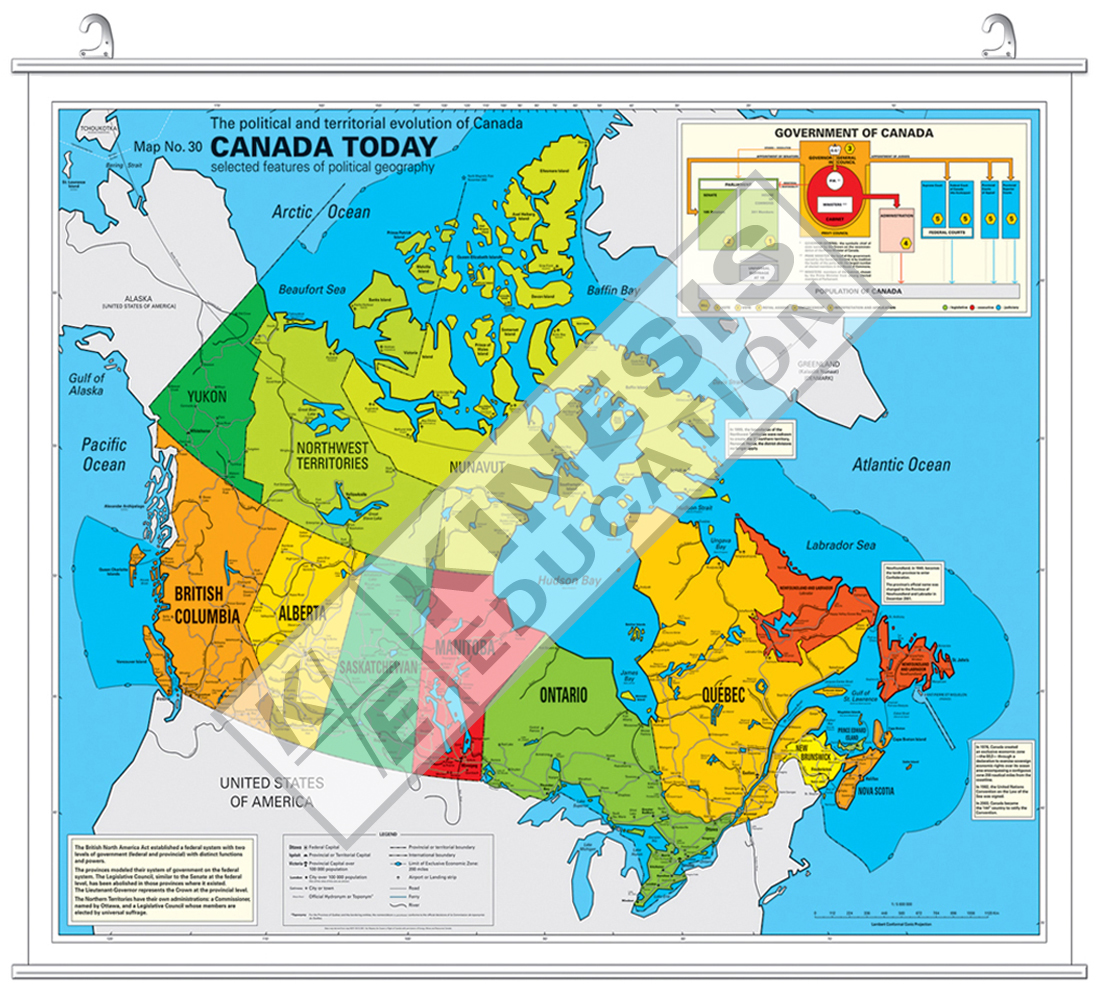 Map Of Canada Government Of Canada.Canada Today The Political And Territorial Evolution Of Canada