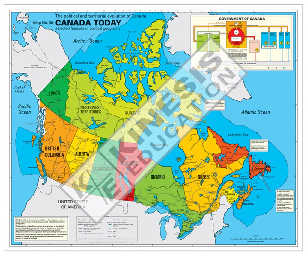 Map Of Canada Today.Canada Today The Political And Territorial Evolution Of Canada
