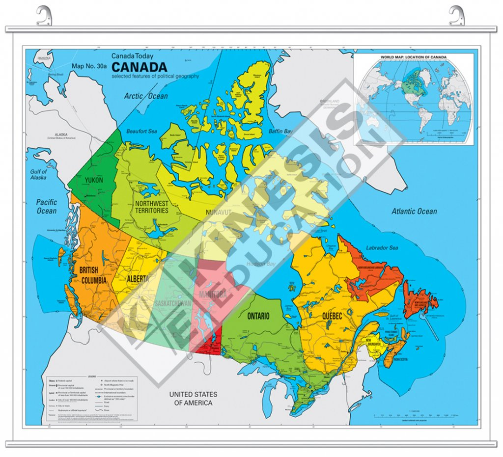 Canada Political Map Alaska Air Route Map - Map of canada and alaska