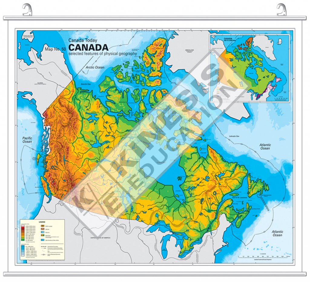 Map Of Canada Today.Canada Canada Today Selected Features Of Physical Geography
