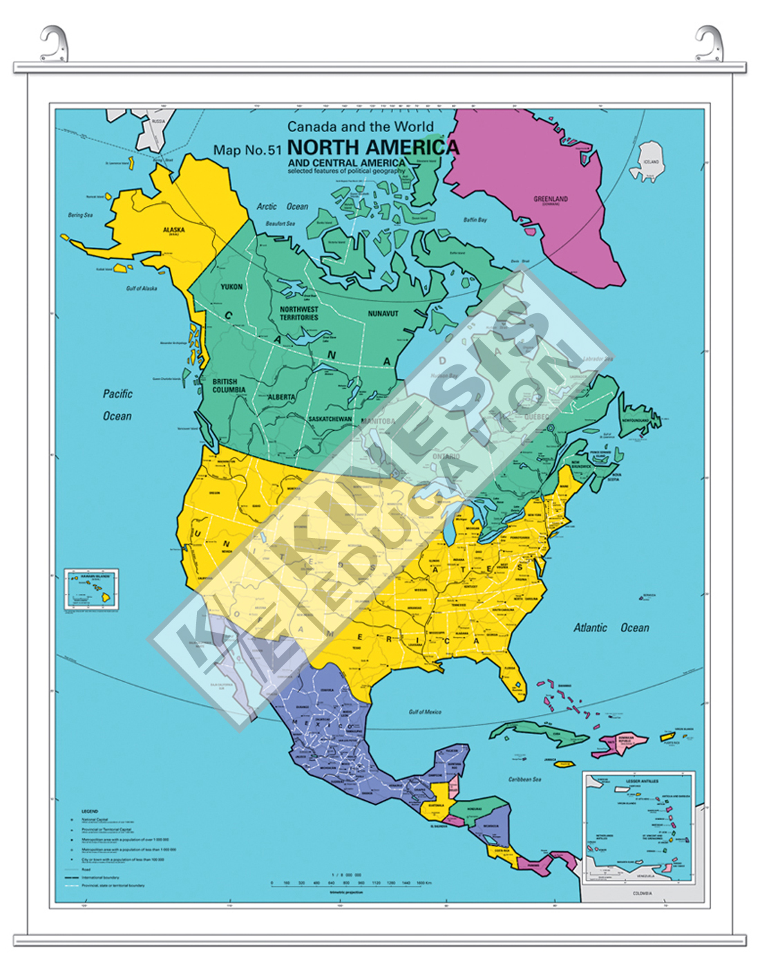 North America Canada and the World Selected Features of