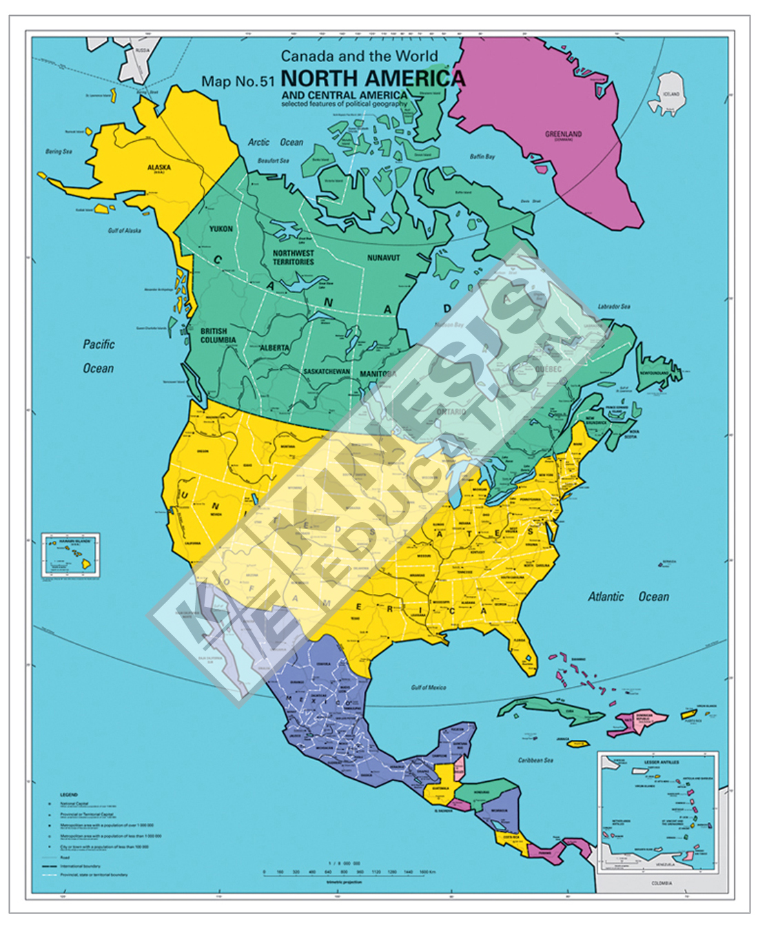 Picture of: North America Canada And The World Selected Features Of Political Geography Digital Map 4001277 Kinesis Education